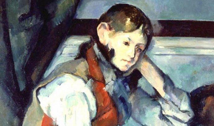 Chlapec v červené vestě od Paula Cézanna