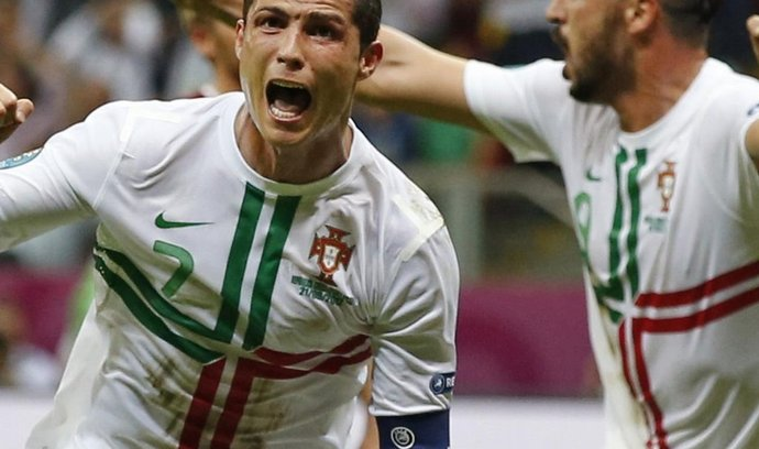 Christian Ronaldo se raduje z gólu