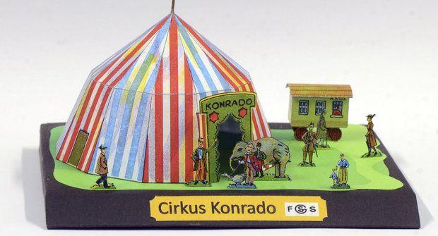 Vystřihovánka ke stažení: Cirkus Konrado