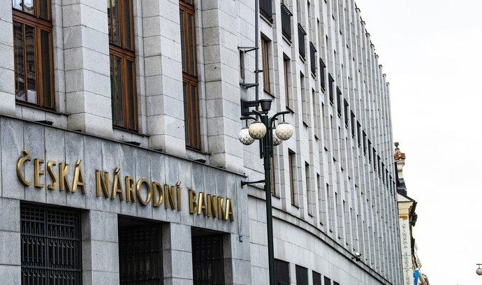 Budova České národní banky v ulici Na příkopě