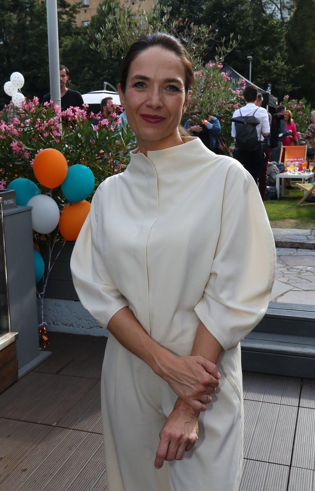 Tisková konference televize Prima pod Žižkovskou věží v Praze: Tereza Kostková