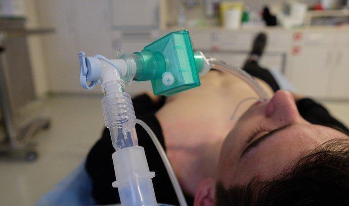 Plicní ventilace, ilustrační foto.