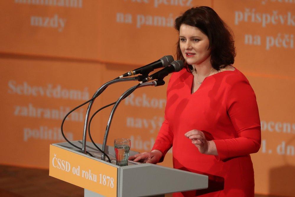 Jana Maláčová, ministryně práce a sociálních věcí, 41. sjezd ČSSD
