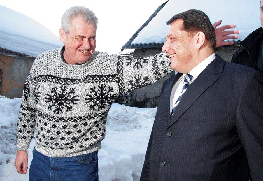 Miloš Zeman vyjádřil podporu Jiřímu Paroubkovi (2006