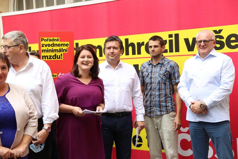 Kampaň ČSSD: Jana Maláčová s Janem Hamáčkem (22.8.2021)