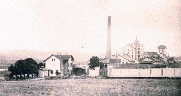Historický snímek cukrovaru z roku 1910