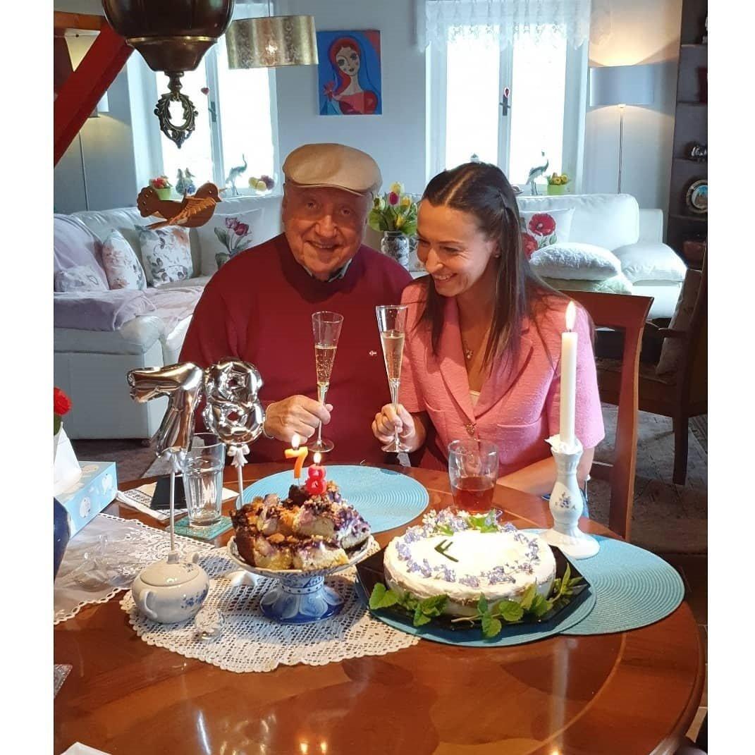 I přes rozchod Slováček s Gelemovou oslavil své narozeniny.