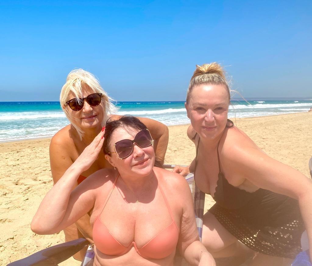 Dáda Patrasová s kamarádkami na dovolené ve Španělsku.