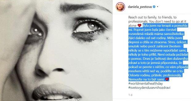 Daniela Peštová přiznala psychické problémy