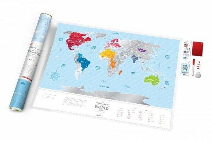 Stírací mapa světa Travel Map – Silver World, 899 Kč, Knihy Dobrovský