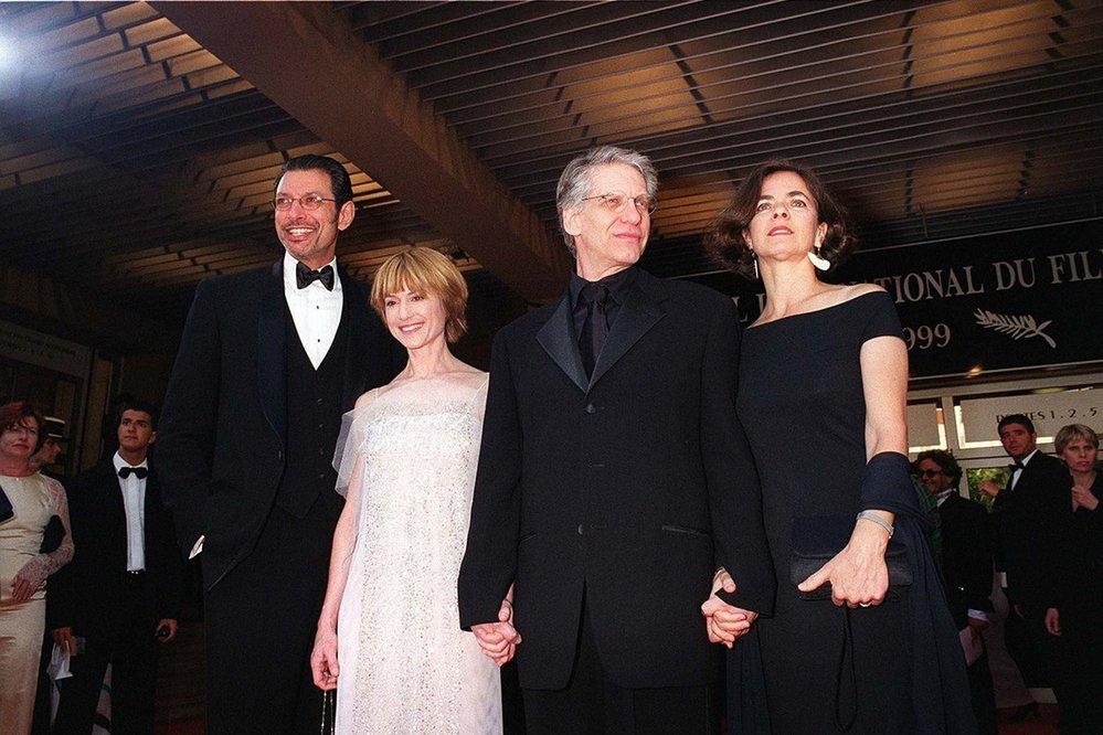 Jeff Goldblum, Holly Hunter a David Cronenberg se svou chotí