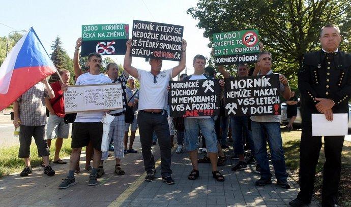 Demonstrace horníků
