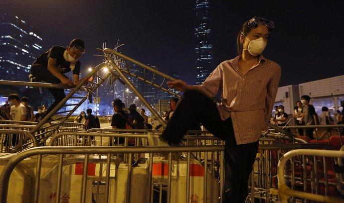 Demonstrace v Hongkongu (foto ze 14. října 2014)