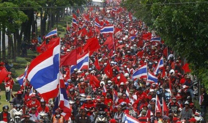 Demonstranti v Thajsku