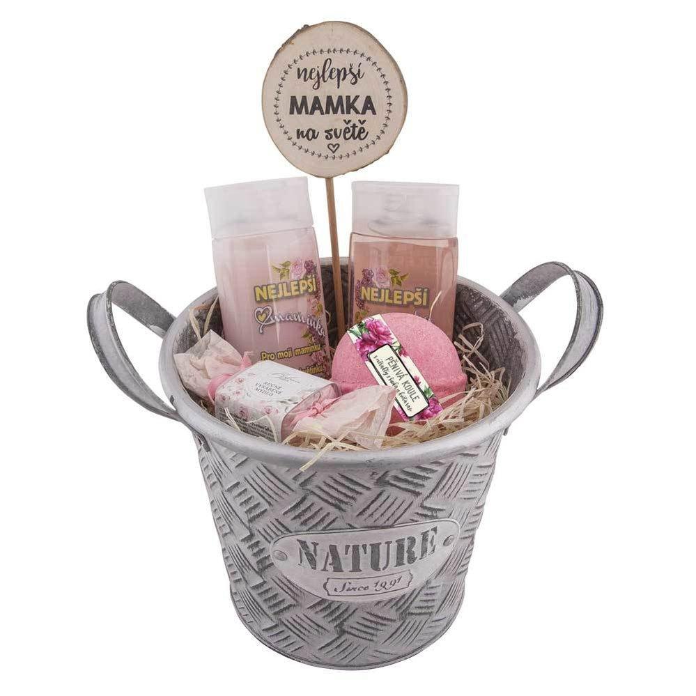 Dárkový box nejlepší maminka – gel, šampon, šumivá koule a mýdlo, prodává BohemiaGifts.cz, 649 Kč