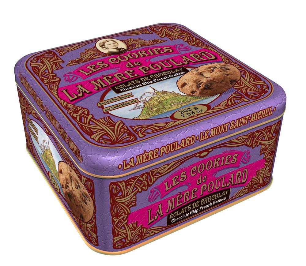 Cookies s čokoládou v plechové krabičce (24 ks), La Mere Poulard, 231 Kč