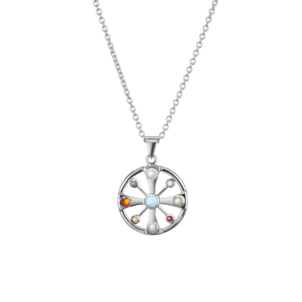 Stříbrný přívěsek s rubínem Nekonečná láska, prodává Ecstatictravel.com, 1290 Kč