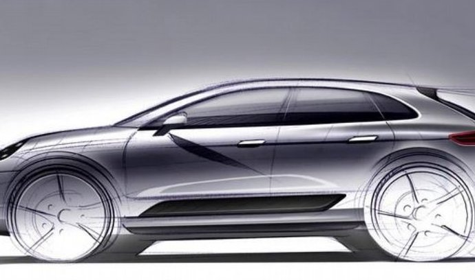 designérská skica Porsche Macan