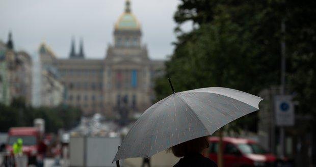 Deštivé počasí v Praze (29.8.2021)