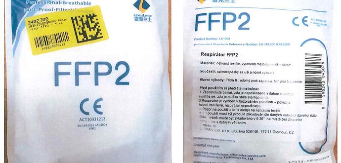 Dôležité upozornenie pre naších zákazníkov: nebezpečný respirátor filtračná polmaska FFP2 NR LexusLance LK-003