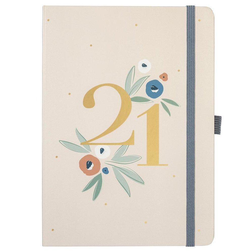Týdenní plánovací diář Dual Floral 2021, 374 Kč, www.bellarose.cz
