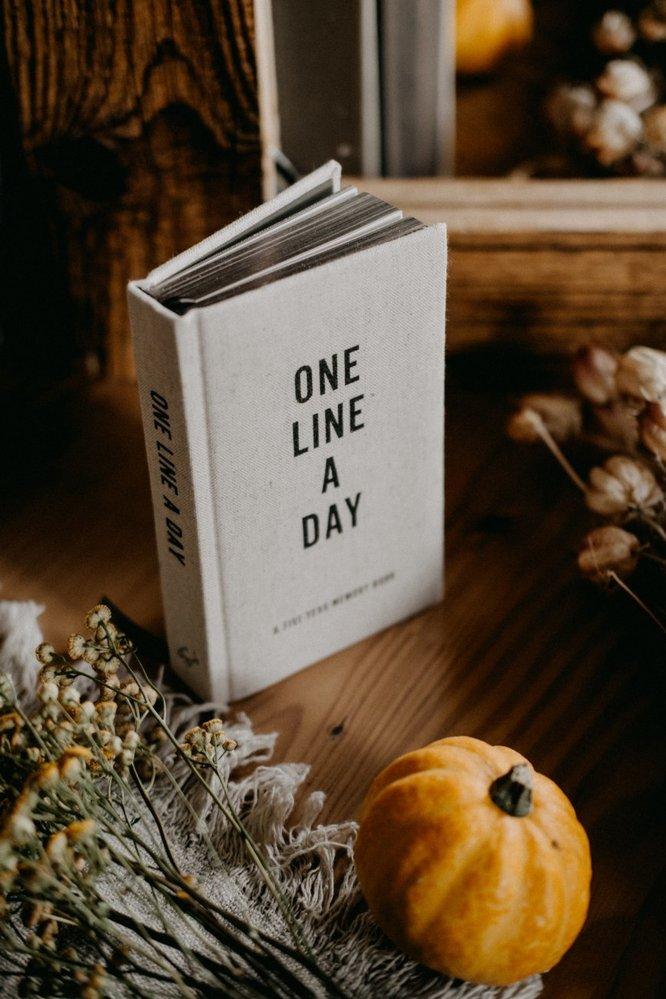 Deník Canvas One Line A Day, Hachette, 440 Kč, www.nila.cz