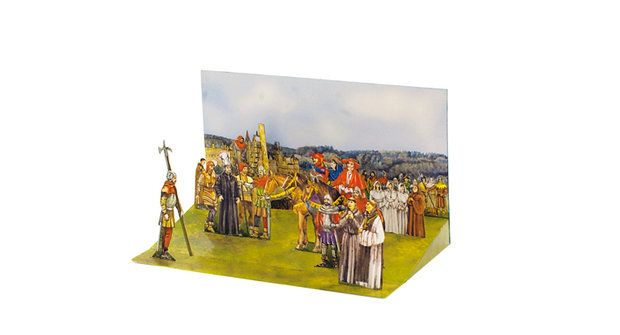 Vystřihovánka 13: Dioráma upálení Mistra Jana Husa