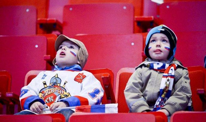 Diváci na mistrovství světa v hokeji.