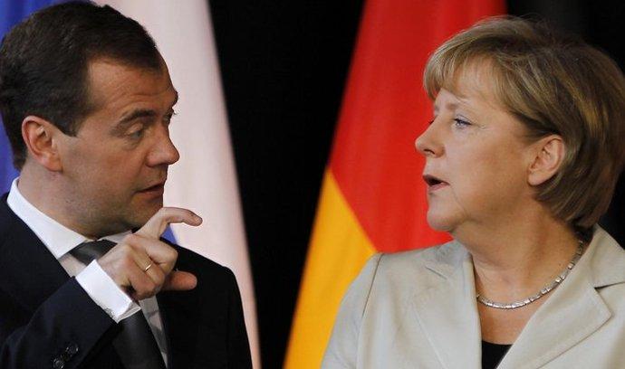 Dmitrij Medveděv, Angela Merkelová