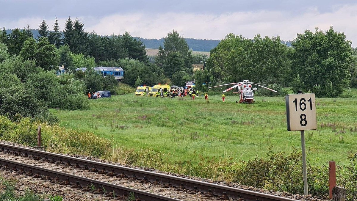 Srážka vlaků u Domažlic.