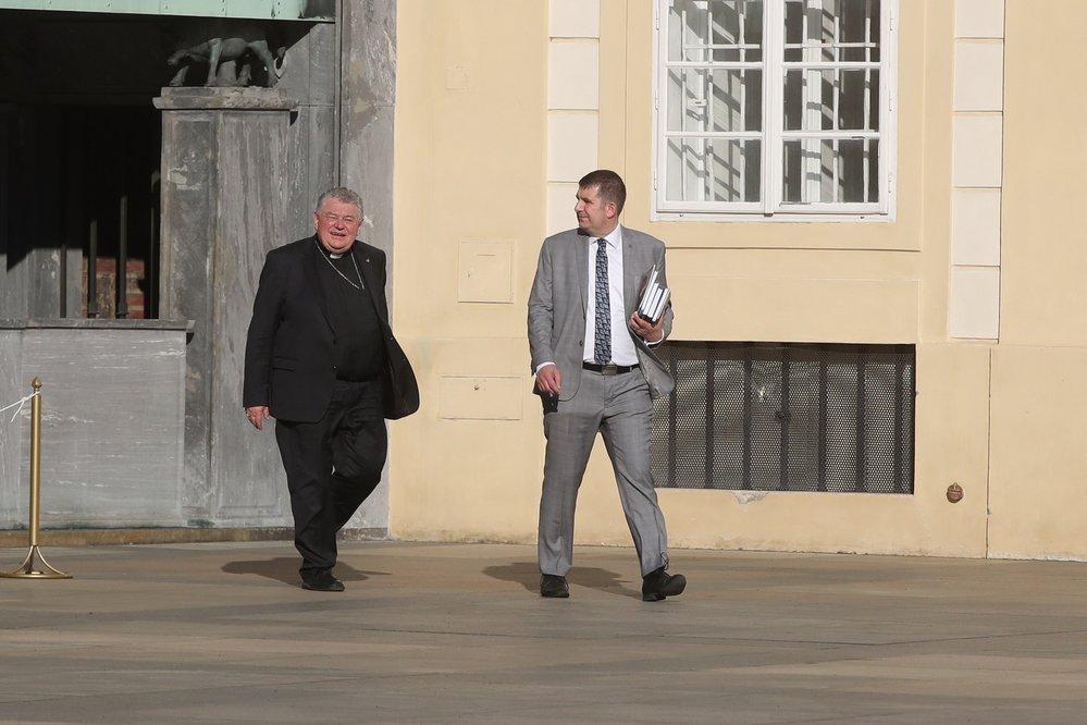 Kardinál Dominik Duka na oslavě 80. narozenin exprezidenta Václava Klause (18.6.2021)