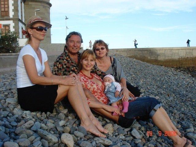 Dominika Gottová s tátou, Ivanou a její maminkou Blankou