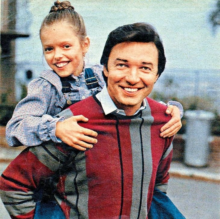 Karel Gott a jeho dcera Dominika