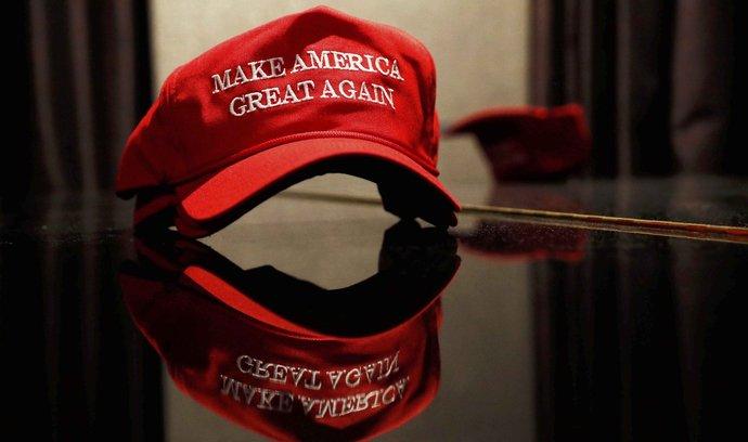 Oslavující příznivci Donalda Trumpa