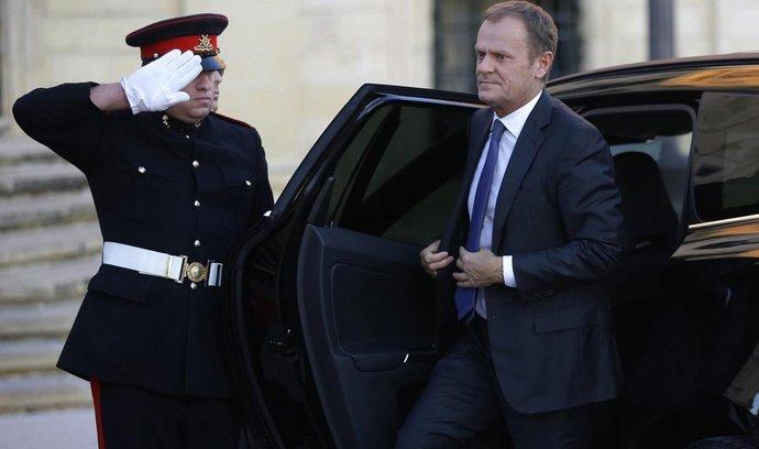 Donald Tusk na jednání v maltské Vallettě