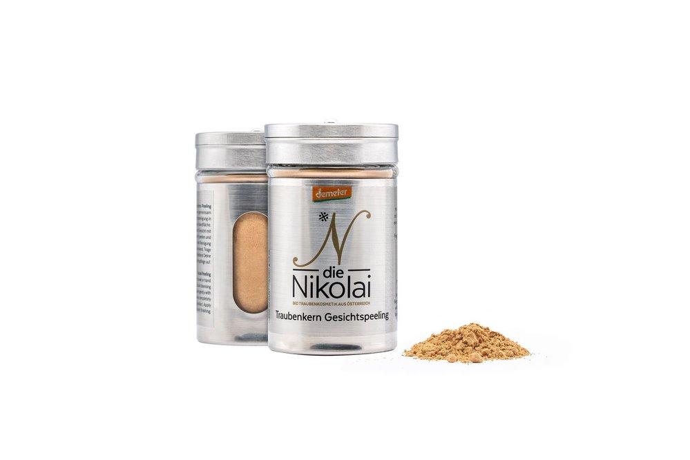 Přírodní pleťový peeling Něžné pohlazení, dieNikolai, prodává biodynamickakosmetika.cz, 500 Kč