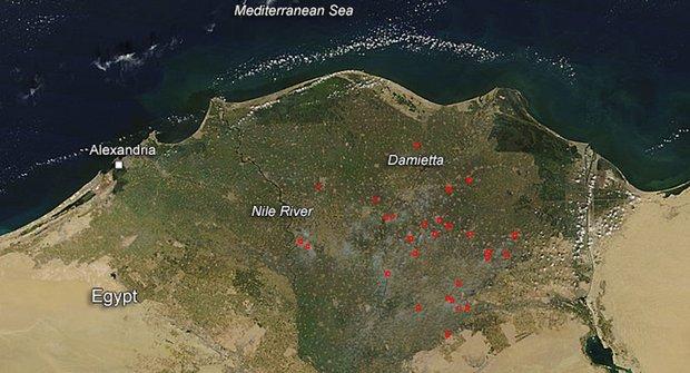 Požáry u faraónů: Horko v deltě Nilu