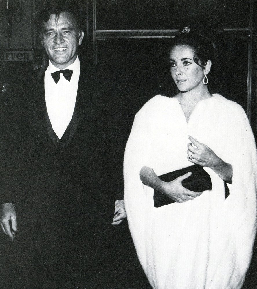 S manželem Richardem Burtonem