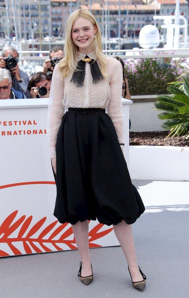 Elle Fanning v modelu Dior haute couture