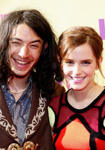 Emma Watson and Ezra Miller at the 2012 MTV Video Music Award