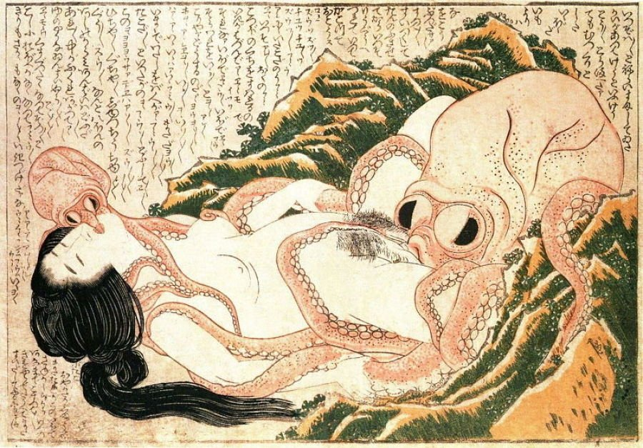 The Dream of the Fisherman's Wife, Katsushika Hokusai, 1800