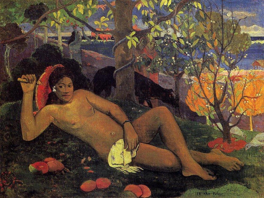 Králova žena, Paul Gauguin, 1896