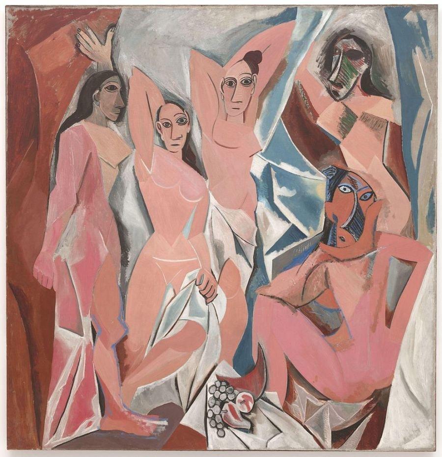 Les Demoiselles d'Avignon, Picasso, 1907