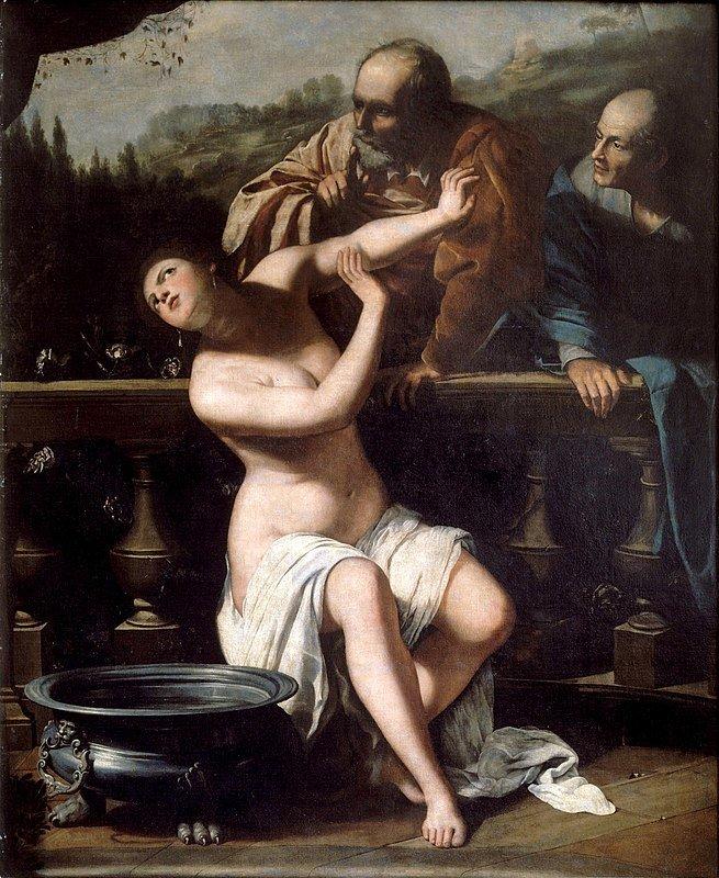 Zuzana a starci, Artemisia Gentileschi, 1649