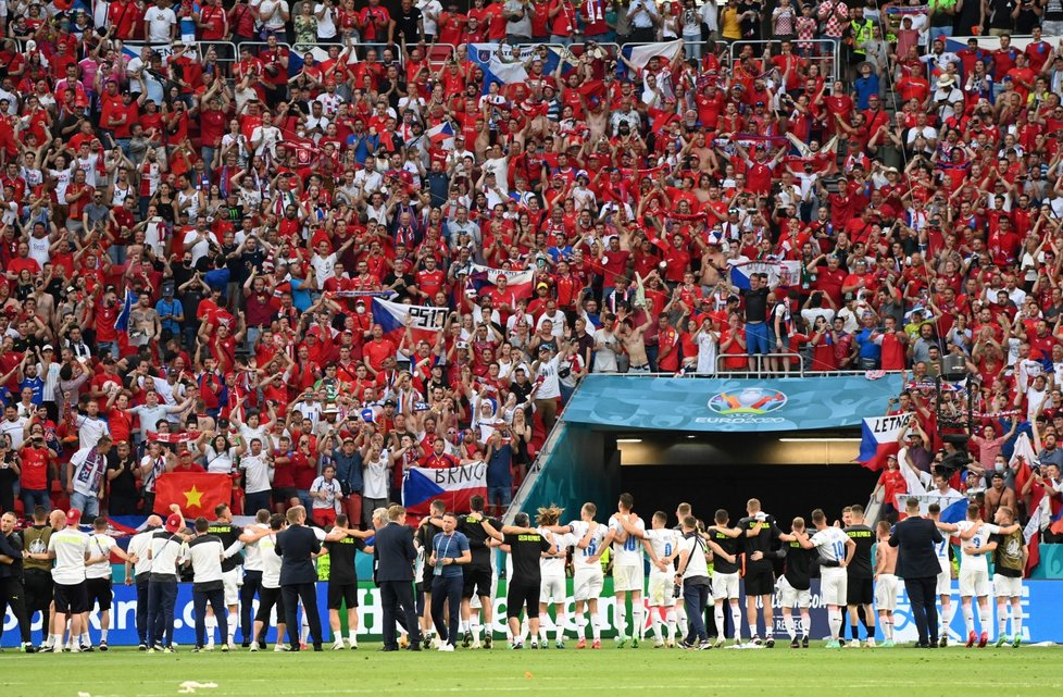 Fotbalový zápas Nizozemsko - Česko v Budapešti na mistrovství Evropy (27. 6. 2021)
