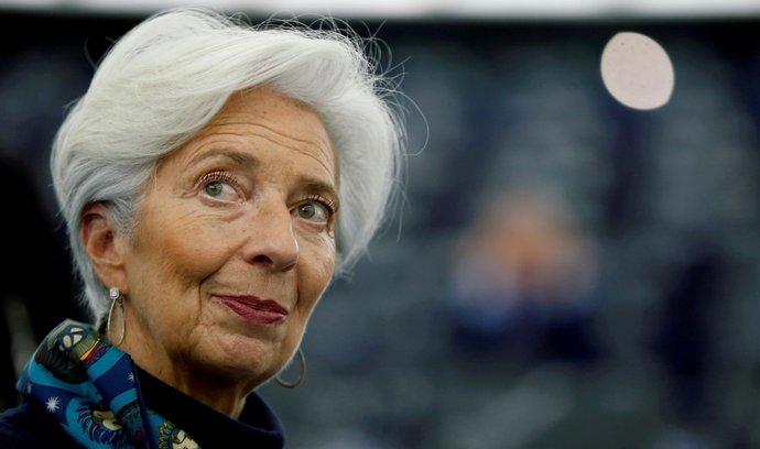 Prezidentka Evropské centrální banky (ECB) Christine Lagardeová