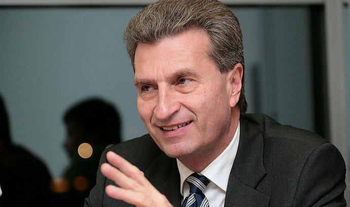 Evropský komisař pro energetiku Günther Oettinger