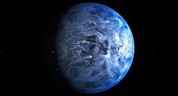 Cizí exoplaneta je modrá stejně jako Země