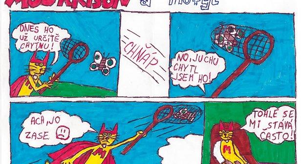 Komiks Mourrison a motýl od Fandy