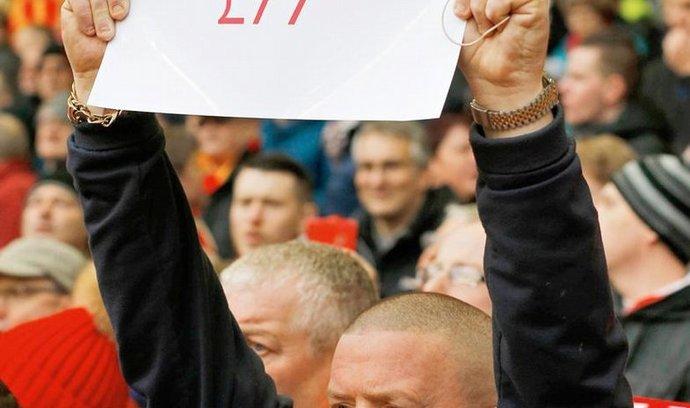 fanoušek považuje cenu vstupného ohlášenou Liverpoolem za hanebnou.